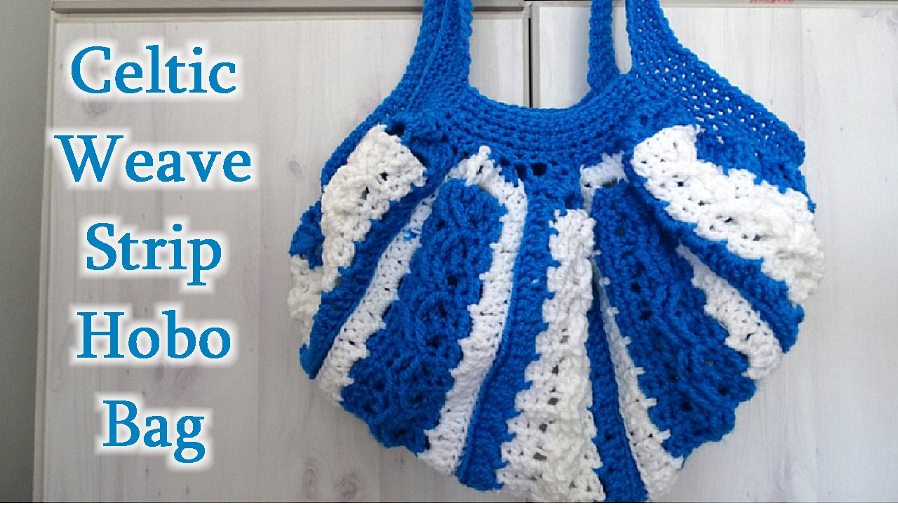 Meladoras Creations Celtic Weave Strip Hobo Bag Free